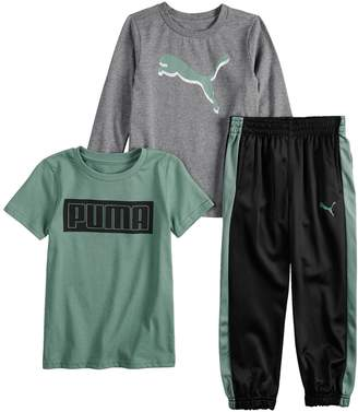 Puma Boys 4-7 3 Piece Graphic Tee & Pants Set