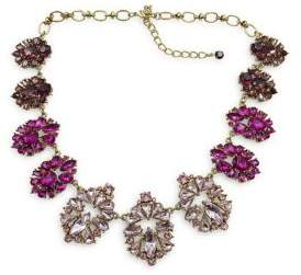 Badgley Mischka Belle by Pink Ombre Stone Cluster Necklace
