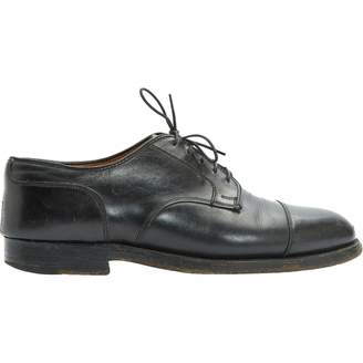 Alden Black Leather Lace ups