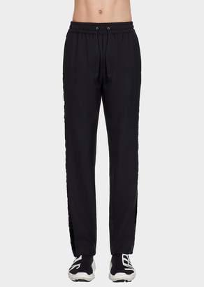 Versace Velvet Ribbon Wool Pants