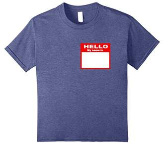 Hello My Name is Blank Sticker Customizable Graphic T Shirt