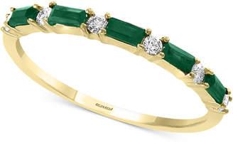 Effy Emerald (1/3 ct. t.w.) & Diamond (1/8 ct. t.w.) Band in 14k Gold