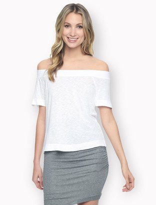 Slub Off Shoulder Tee $78 thestylecure.com