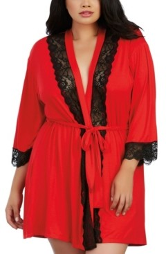Dreamgirl Plus Size Soft Spandex Jersey Robe