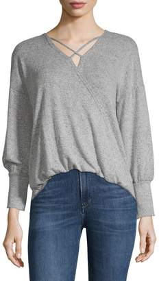 Design Lab Cross Front Knit Blouse