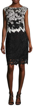 Kay Unger Lace Cap Sleeves Cocktail Dress