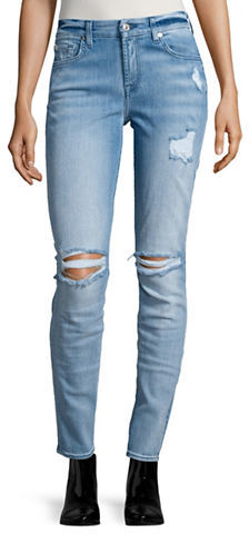 7 For All Mankind7 For All Mankind Distressed Skinny Jeans
