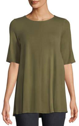 Eileen Fisher Short-Sleeve Jersey Tunic, Petite