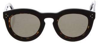 Celine Tortoiseshell Round Sunglasses