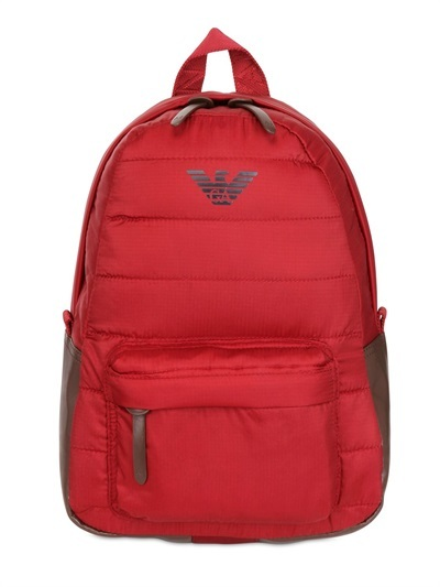 Armani Junior Nylon Logo Backpack