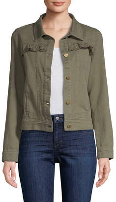 Allison Collection Ruffled Twill Jacket