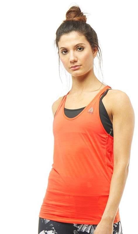 Damen Workout Ready ACTIVChill Top Orange