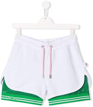 Gcds Kids TEEN mesh layer shorts