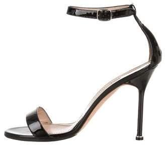 Manolo Blahnik Patent Chaos Sandals