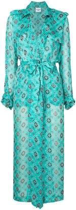 Michel Klein patterned robe coat