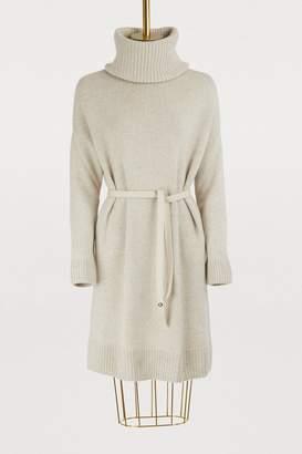 Loro Piana Cashmere dress with detachable collar