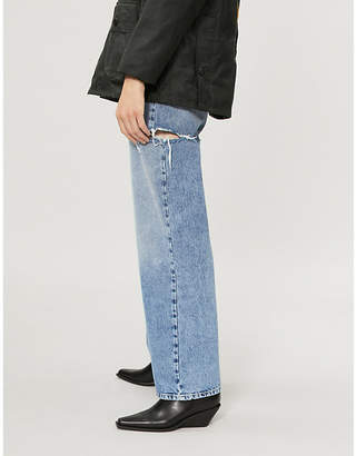 Maison Margiela Slit thigh relaxed-fit high-rise jeans