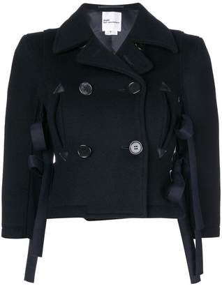 Comme des Garcons tie-side cropped jacket