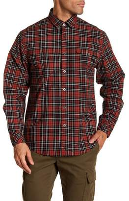 COASTAORO Elmira Long Sleeve Woven Plaid Shirt