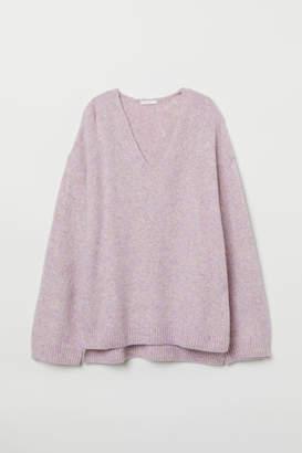 H&M Fine-knit Sweater - Purple