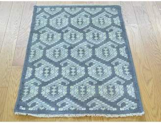 Isabelline One-of-a-Kind Bridgeview Paisley Design Turkish Knot Hand-Knotted Gray Wool Area Rug Isabelline