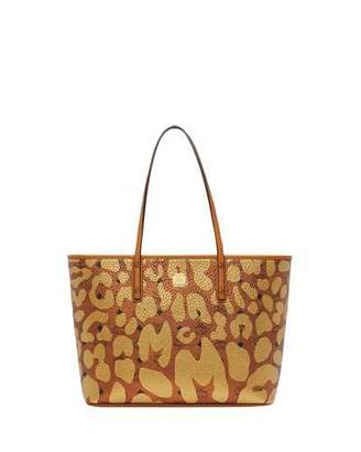 MCM Anya Leopard-Print Tote Bag
