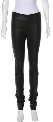 Ann Demeulemeester Leather Mid-Rise Skinny Leggings w/ Tags