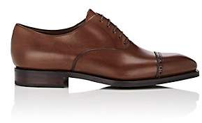 Carmina Shoemaker Men's Leather Cap-Toe Balmorals - Med. brown