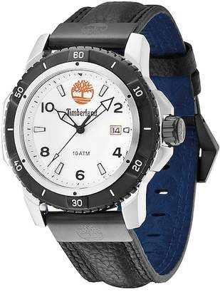 Timberland Men's Charlestown Leather Strap Watch, 46mm