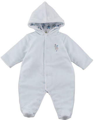 Kissy Kissy King of the Castle Velour Footie Bunting, Size 0-9 Months