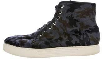 Alejandro Ingelmo Camouflage Ponyhair Sneakers