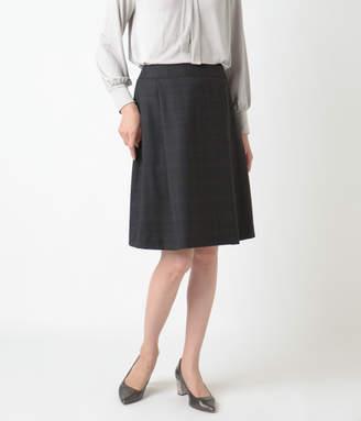 NEWYORKER women's 【ファイナルセール】シェットランドウールチェック タックAラインスカート