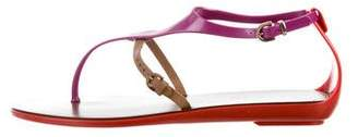 Sergio Rossi Jelly Thong Sandals w/ Tags