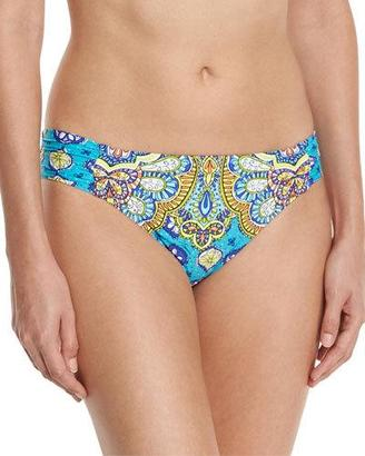 Trina Turk Corsica Shirred-Side Hipster Swim Bottom $72 thestylecure.com