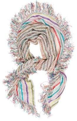 Missoni Striped Knit Shawl multicolor Striped Knit Shawl