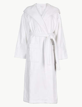 M S CollectionMarks and Spencer Pure Cotton Velour Dressing Gown d2971dc0f