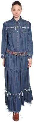 Cotton Denim Long Dress