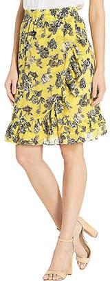 Kensie Floral Chiffon Skirt