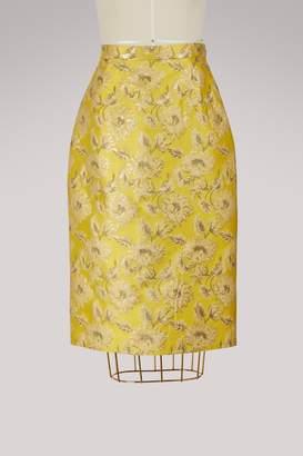 Prada Jacquard pencil skirt