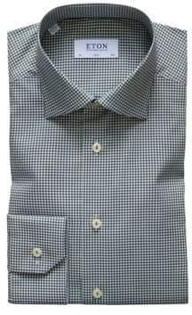 Eton Slim-Fit Gingham Dress Shirt