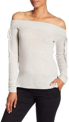 Veronica Beard Nolan Off-the-Shoulder Ballet Wool Sweater