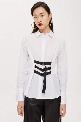 Topshop Strap Detail Shirt