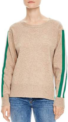 Sandro Amour Striped Sleeve Sweater