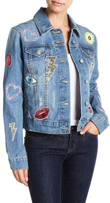 Bagatelle Embellished Oversized Denim Jacket