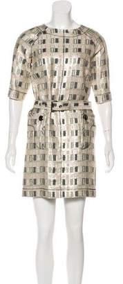 Derek Lam Metallic Brocade Dress