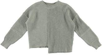 Stella McCartney Asymmetrical Knit Notch Hem Sweater, Size 4-14