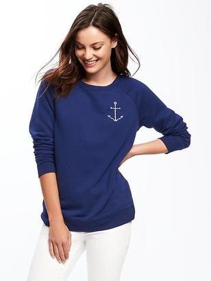 Relaxed French-Terry Sweatshirt for Women $26.94 thestylecure.com