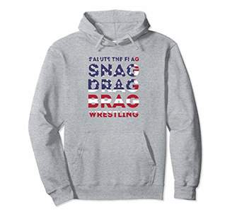 Wrestling Patriotic American Flag Workout Hoodie Gift