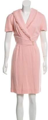 Christian Dior Wool Short Sleeve Dress