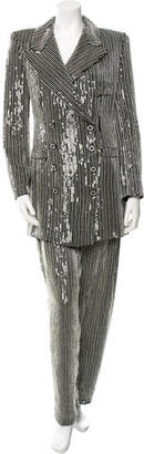 Giorgio Armani Sequined &  Beaded-Accent Pant Suit $1,615 thestylecure.com